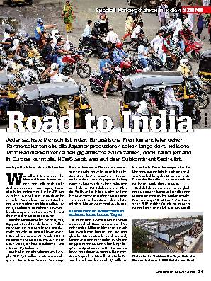 Motorradfahren in Indien