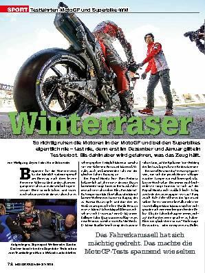 Testfahrten MotoGP und Superbike-WM