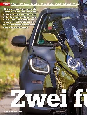 BMW K 1600 Grand America – Smart fortwo Cabrio twinamic 66 kW