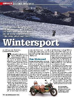 Checkliste Winterfahrer