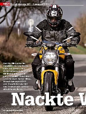 Ducati Monster 821 – Kawasaki Z 900