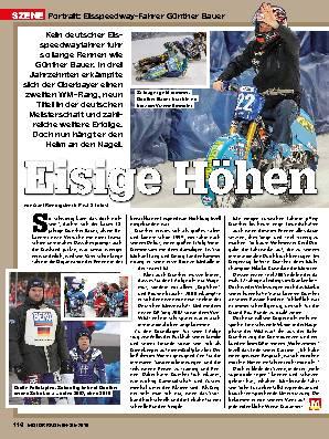 Eisspeedway-Fahrer Günther Bauer