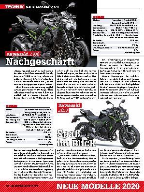 Neue Modelle 2020: Kawasaki / Honda