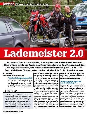 Motorradtransport – aber sicher!