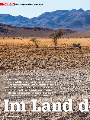 Offroadparadies Namibia