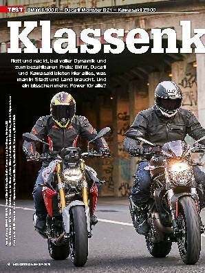 BMW F 900 R – Ducati Monster 821 – Kawasaki Z 900
