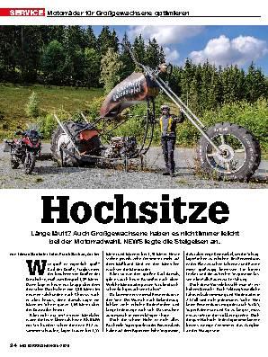 Motorräder für Großgewachsene optimieren