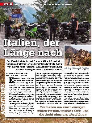 Mit drei älteren Motorrädern nach Sizilien