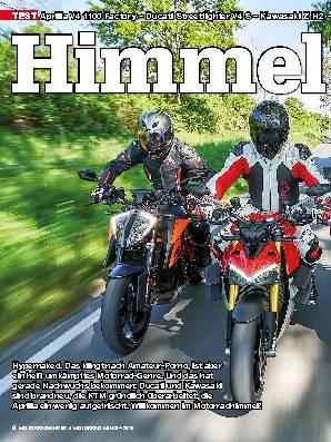 Aprilia V4 1100 Factory – Ducati Streetfighter V4 S – Kawasaki Z H2 – KTM 1290 Super Duke R