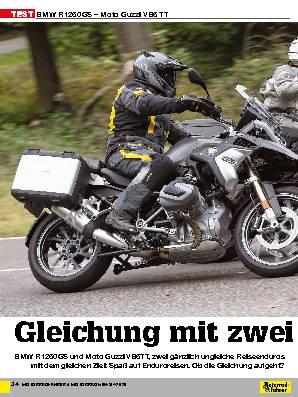 BMW R 1250 GS – Moto Guzzi V 85 TT
