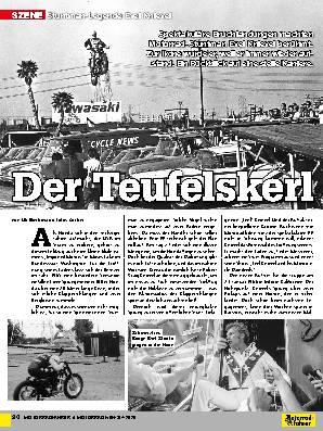 Stuntman-Legende Evel Knievel
