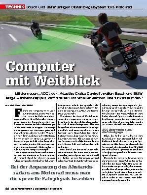 Bosch und BMW bringen Distanzregelsystem fürs Motorrad