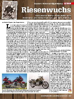 Motorrad-Gigantismus