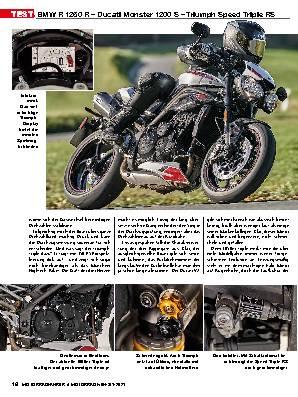 BMW R 1250 R – Ducati Monster 1200 S – Triumph Speed Triple RS