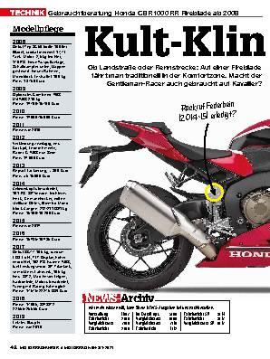 Honda CBR 1000 RR Fireblade ab 2008