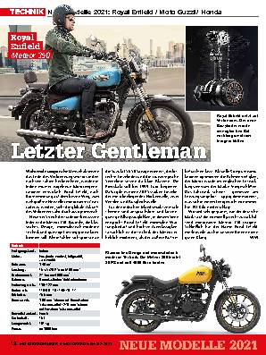 Neue Modelle 2021: Royal Enfield / Moto Guzzi / Honda