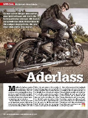 Motorrad-Abschiede