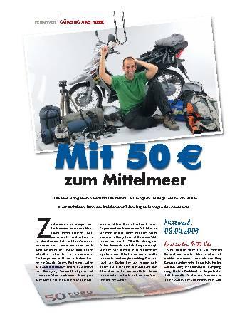 Mit 50 Euro zum Mittelmeer