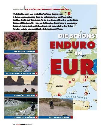 Endurostrecken in Europa