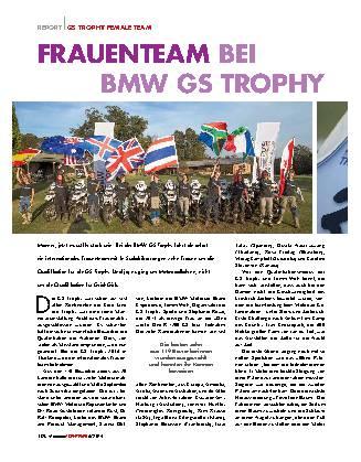Frauenteam bei BMW GS Trophy