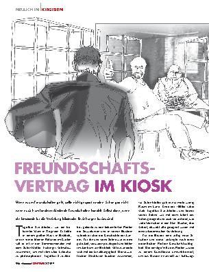 FREUNDSCHAFTSVERTRAG IM KIOSK