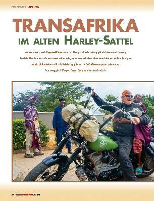 TRANSAFRIKA IM ALTEN HARLEY-SATTEL