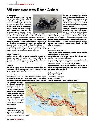 Asien-Reise Teil 1
