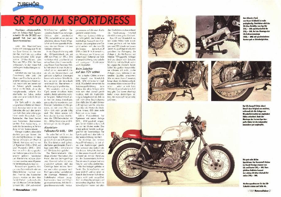 SR 500 im Sportdress