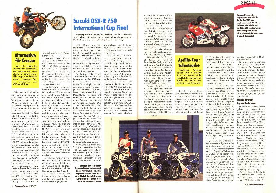 Suzuki GSX-R 750 International Cup Final