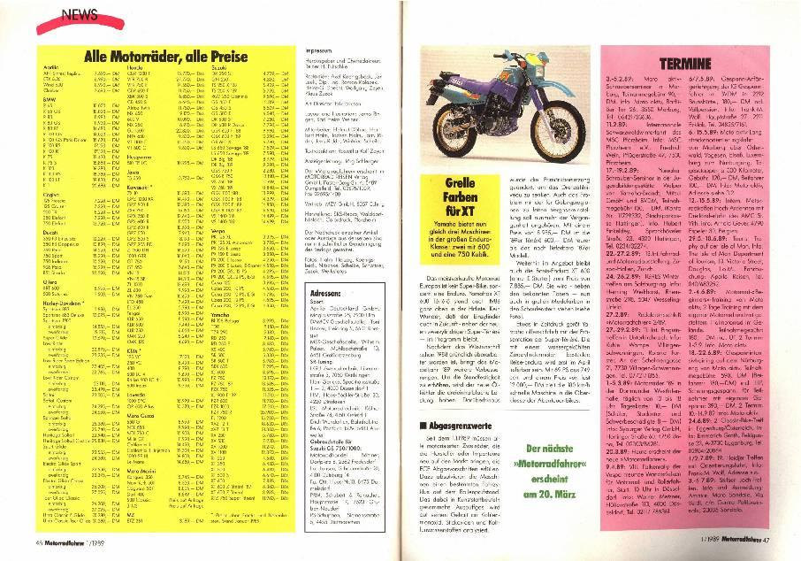 Alle Motorräder, alle Preise