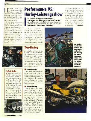 Performance 95: Harley-Leistungsshow