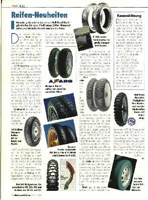 Reifen-Neuheiten