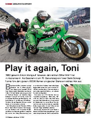 Play it again, Toni