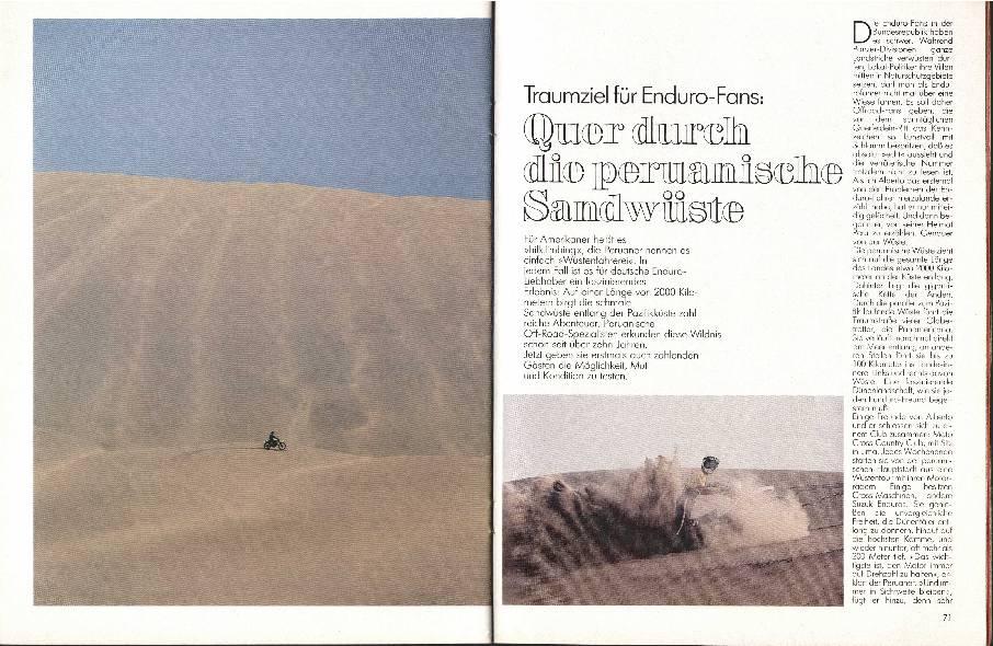 Quer durch die peruanische Wüste