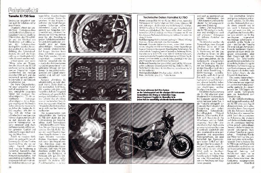 Fahrbericht - Yamaha XJ 750 Seca: Der Sonntags- Ausflügler