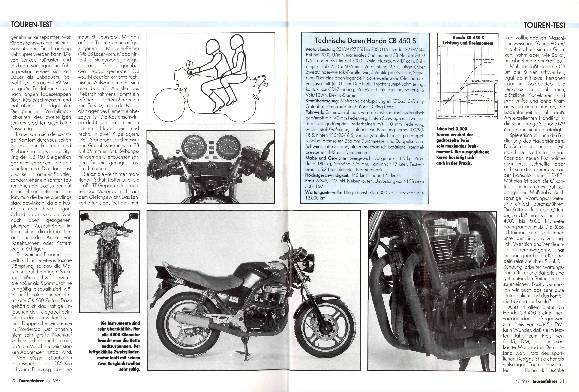 Touren-Test Honda CB 450 S