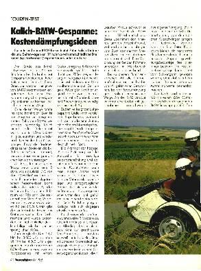 Kalich-BMW-Gespanne