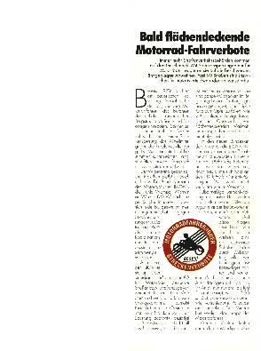 Bald flächendeckende Motorrad-Fahrverbote