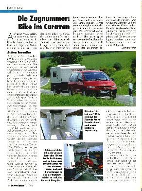 Die Zugnummer - Bike im Caravan