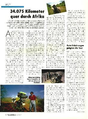 34.075 Kilometer quer durch Afrika