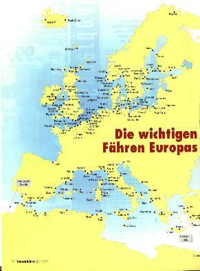 Die wichtigen Fähren Europas(