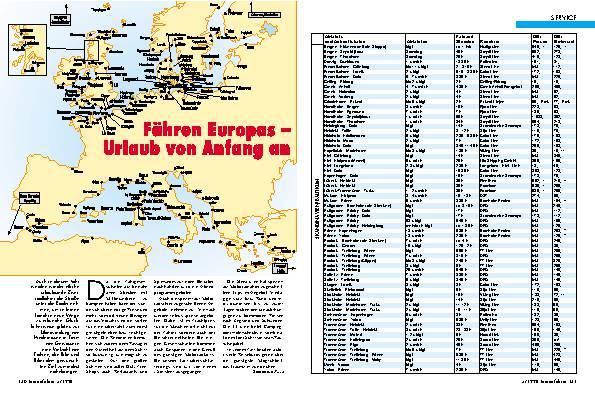 Fähren Europas - Urlaub von Anfang an