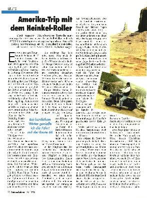 Amerika-Trip mit dem Heinkel-Roller