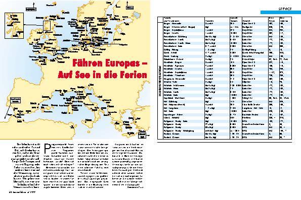 Fähren Europas - Auf See in die Ferien