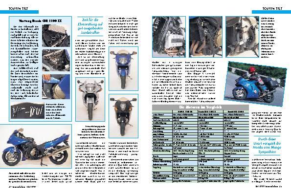 BMW K 1200 RS/Honda CBR 1100 XX/Suzuki GSX 1300