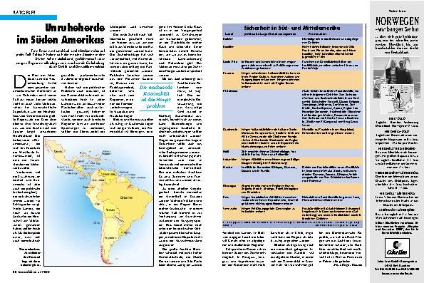 Unruheherde im Süden Amerikas