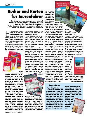 Bücher und Karten für Tourenfahrer