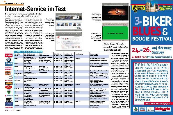 Report Internet- Internet-Service im Test