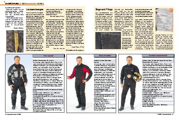 Gore-Tex- Textilkombis