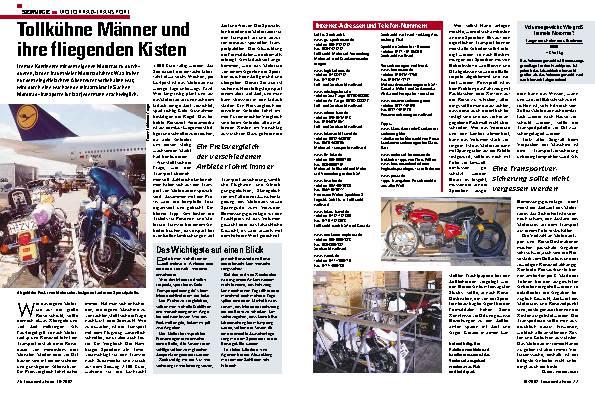 Motorrad- Transport